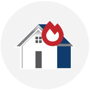 Fire Damage Repair Colony Home Restoration Services Icon
